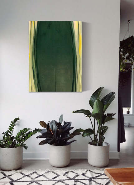 Green Grey Abstraction by Georgia O Keeffe