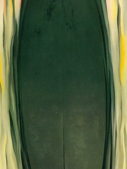 Green Grey Abstraction by Georgia O Keeffe Print