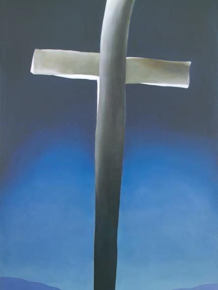 Grey Cross With Blue by Georgia O Keeffe Print