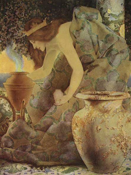 Gulnare Of The Sea Illustration by Maxfield Parrish Print