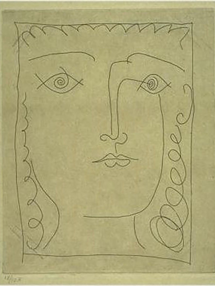 Head Of A Girl by Picasso 1 Print