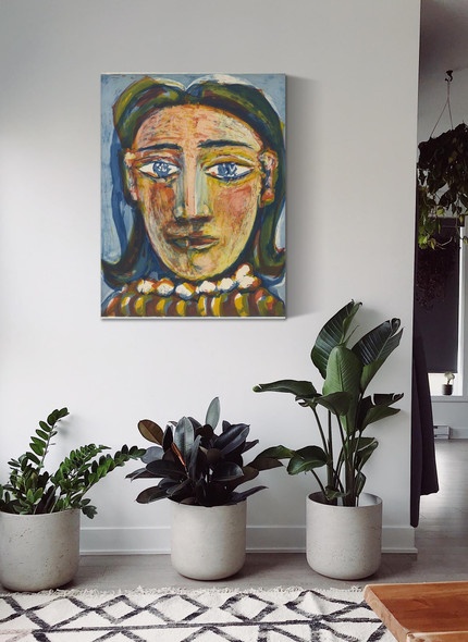 Head Of A Woman No. 1. Portrait Of Dora Maar by Picasso