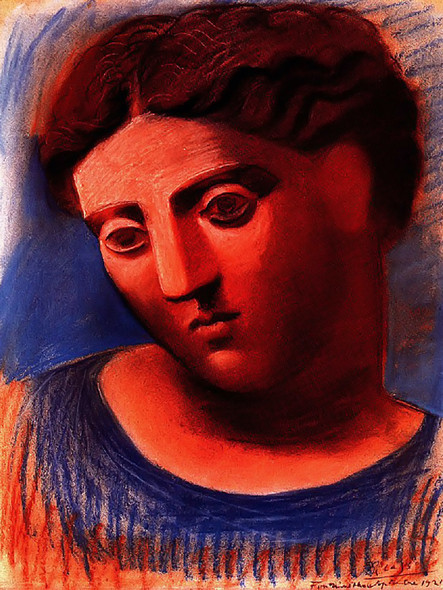 Head Of Woman 62x46 by Picasso Print