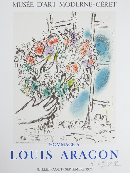 Hommage A Louis Aragon 1971 by Marc Chagall Print