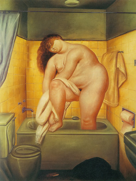 Hommage To Bonnard Woman by Botero Print