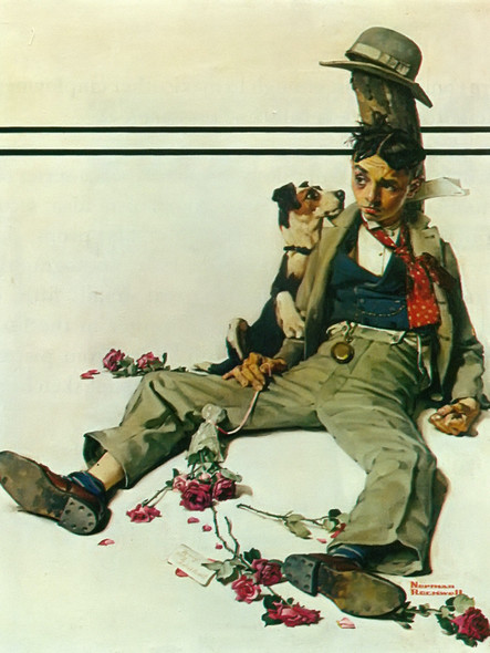 In Need Of Sympathy by Norman Rockwell Print