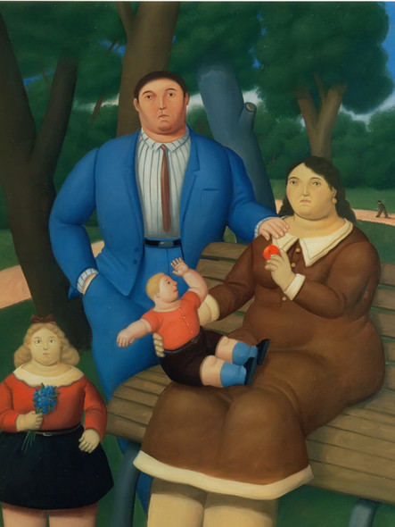 In The Park 2 by Botero Print