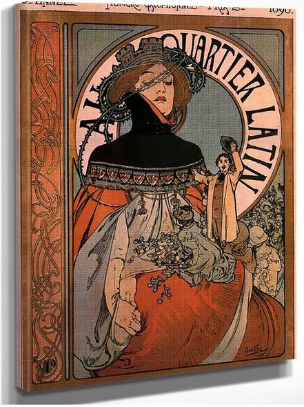 A Quartier Latin 1898 By Alphonse Mucha
