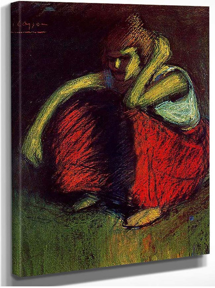 A Red Skirt 1901 By Pablo Picasso