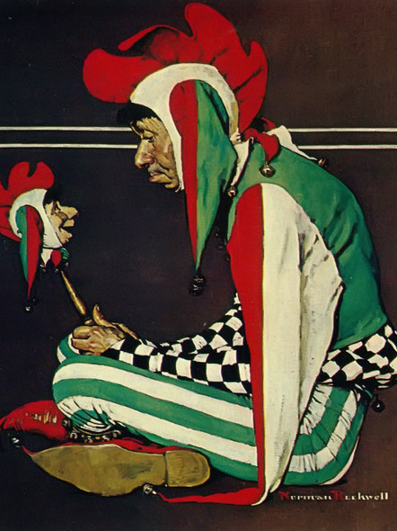 Jester by Norman Rockwell Print