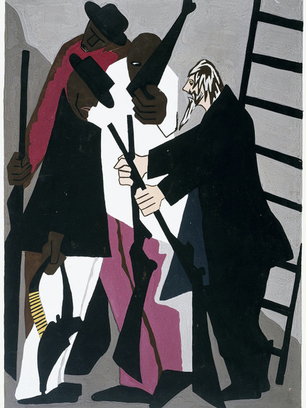 John Brown Formed An Organization Among The Colored People Of The Adirondack Woods To Resist The Capture Of Any Fugitive Slave by Jacob Lawrence Print