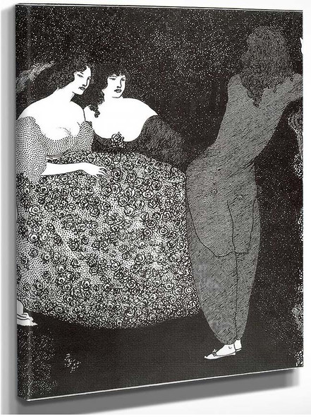 A Repetition Of Tristan Und Isolde 1896 By Aubrey Beardsley
