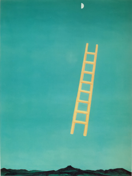 Ladder To The Moon by Georgia O Keeffe Print
