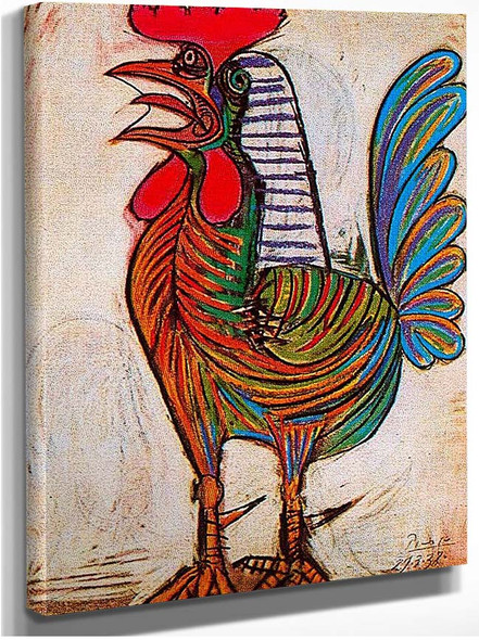 A Rooster 1938 1 By Pablo Picasso