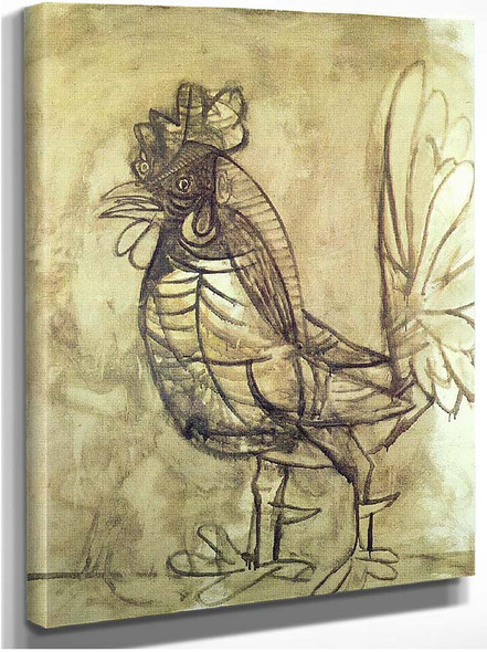 A Rooster 1938 By Pablo Picasso