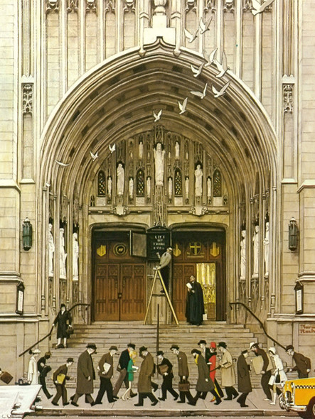 Lift Up Thine Eyes by Norman Rockwell Print