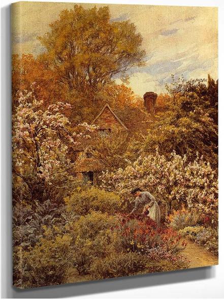 A Spring Garden By Helen Allingham