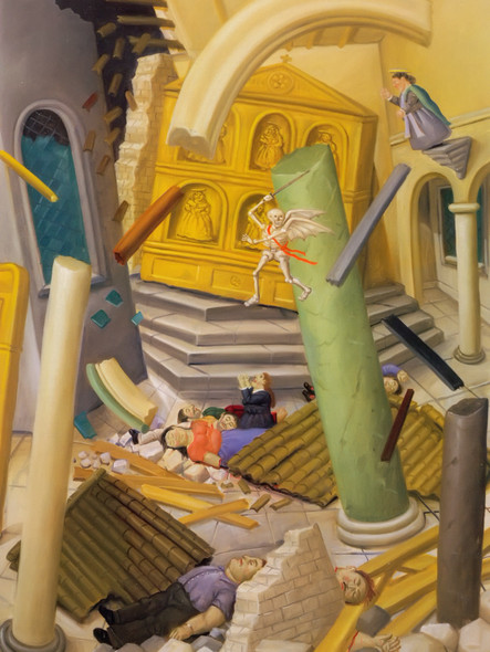 Massacre In The Cathedral by Botero Print