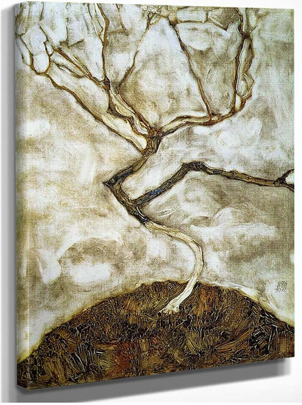 A Tree In Late Autumn 1911 By Egon Schiele