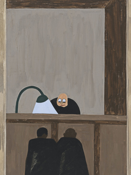 Migration Panel 14 Among The Social Conditions That Existed Which Was Partly The Cause Of The Migration Was The Injustice Done To The Negroes In The Courts by Jacob Lawrence Print