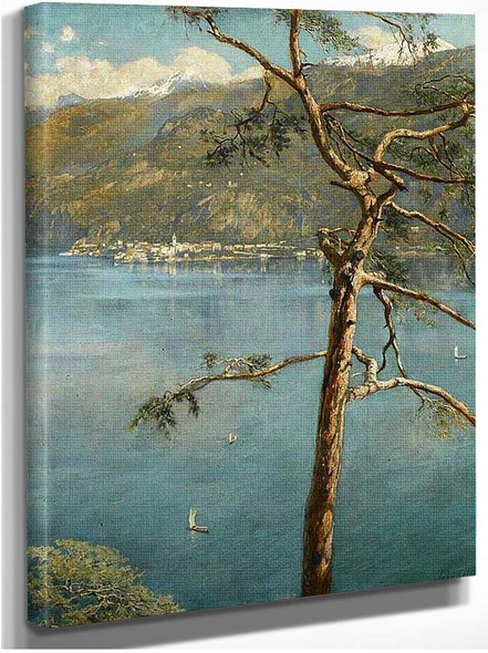 A View Across Lake Como By John Maler Collier