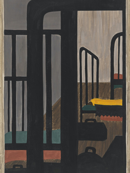 Migration Panel 48 Housing For The Negroes Was A Very Difficult Problem by Jacob Lawrence Print