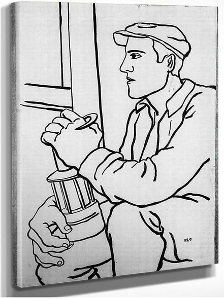 A Worker With The Lamp 1951 By Fernand Leger