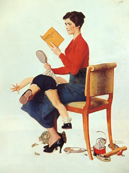 Mother Spanking Her Child by Norman Rockwell Print