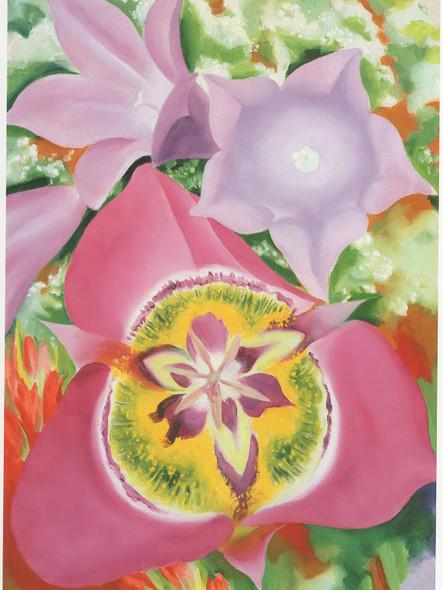 Mountain Flowers Mariposa Lily by Georgia O Keeffe Print