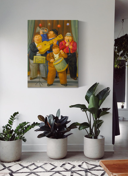 Musicians by Botero