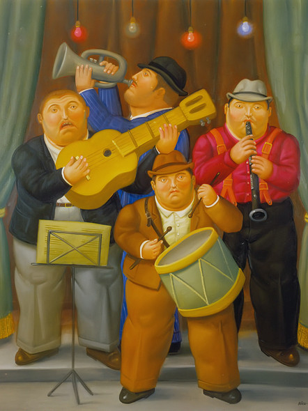 Musicians by Botero Print