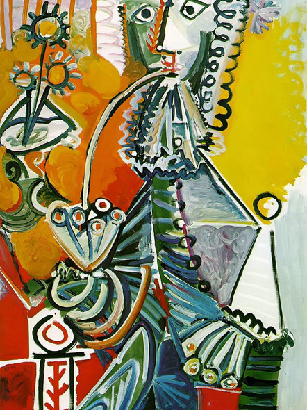 Musketeer With Pipe by Picasso Print