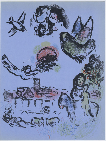 Nocturne At Vence by Marc Chagall Print