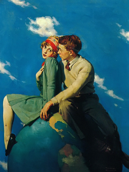 On Top Of The World by Norman Rockwell Print