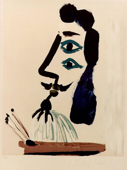 Painter And His Palette 43x55 by Picasso Print