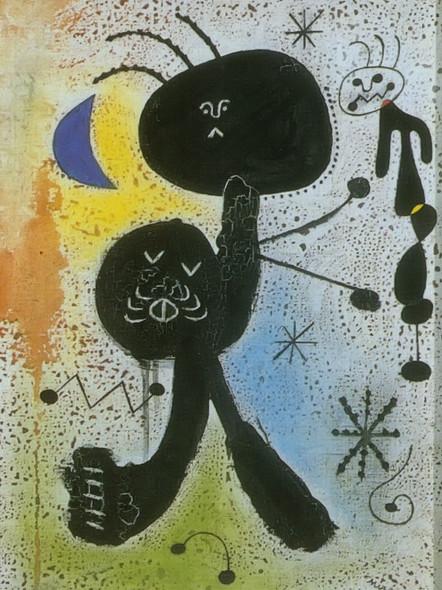 Painting 1943 by Joan Miro Print