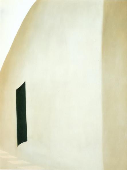 Patio With Black Door by Georgia O Keeffe Print