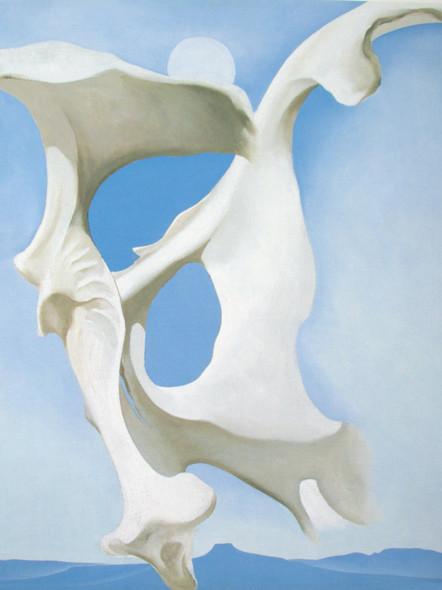 Pelvis With The Moon by Georgia O Keeffe Print