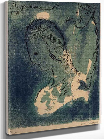 Abraham And Sarah 1956 By Marc Chagall
