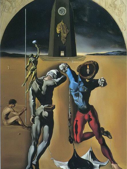 Poetry Of America The Cosmic Athletes by Dali Print