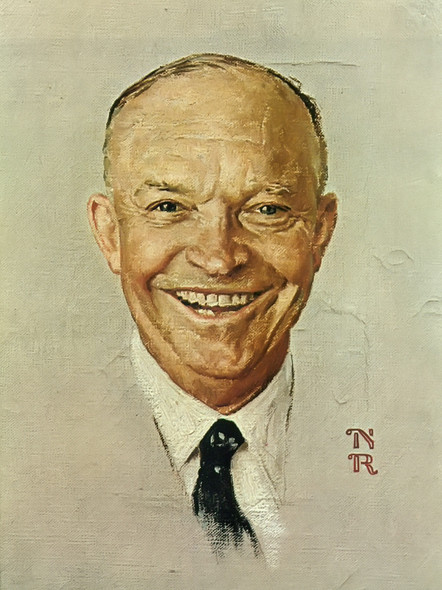 Portrait Of Eisenhower by Norman Rockwell Print