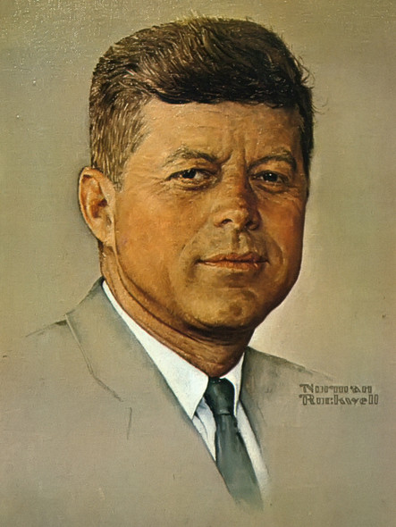 Portrait Of Kennedy by Norman Rockwell Print