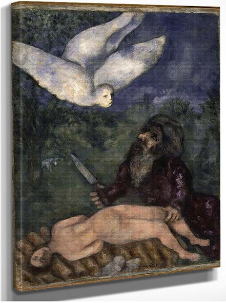 Abraham Is Going To Sacrifice His Son 1931 By Marc Chagall
