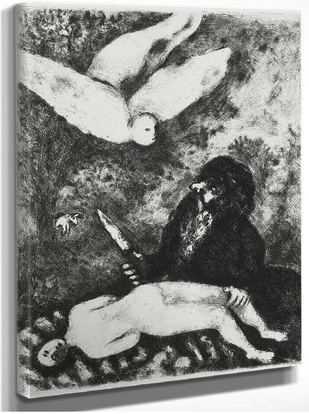 Abraham Is Going To Sacrifice His Son According To The Order Of God Genesis Xxii 9 14 By Marc Chagall