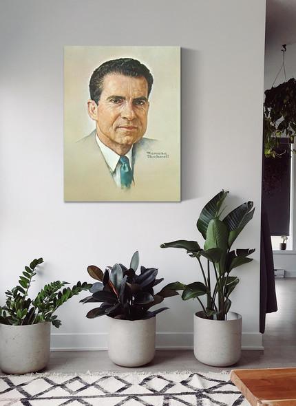 Portrait Of Nixon by Norman Rockwell