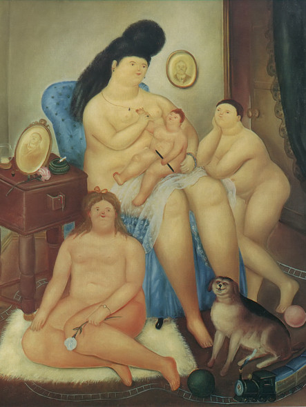 Protestant Family by Botero Print