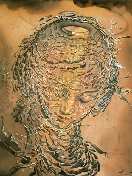 Raphaelite Head Bursting2 by Dali Print