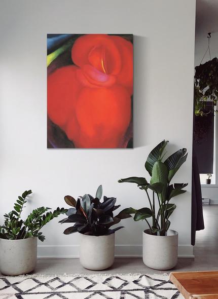 Red Flower by Georgia O Keeffe