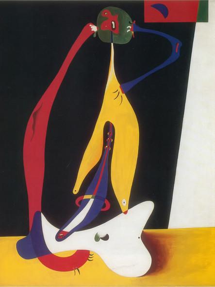 Seated Woman 1932 by Joan Miro Print