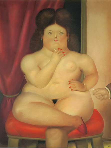 Seated Woman 2 by Botero Print
